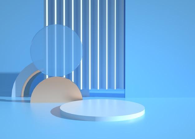 Renderização 3d de fundo de forma geométrica abstrata para exibição de produto
