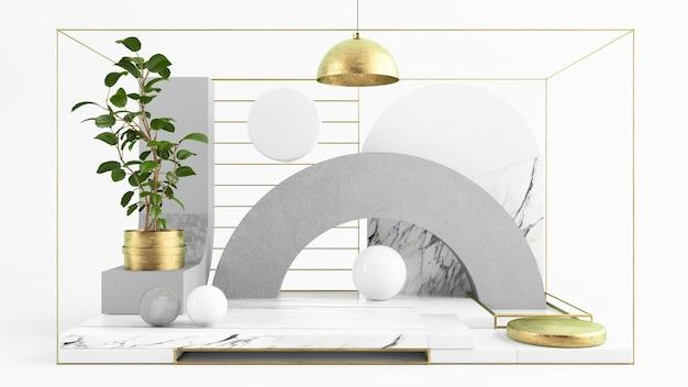Renderização 3d de fundo de pódio abstrato e elegante