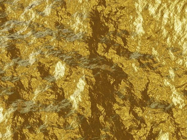 Renderização 3d de fundo dourado abstrato