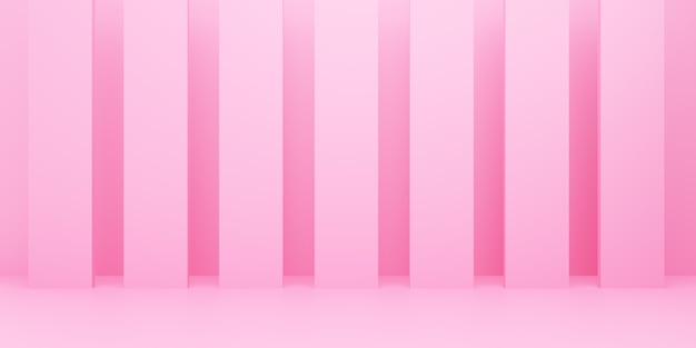 Renderização 3d de fundo mínimo abstrato rosa vazio. cena para design publicitário, anúncios de cosméticos, show, tecnologia, comida, banner, creme, moda, criança, luxo. ilustração. display de produto