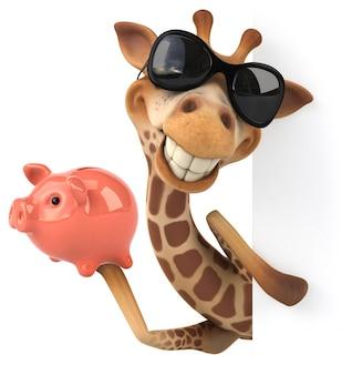 Renderização 3d de girafa