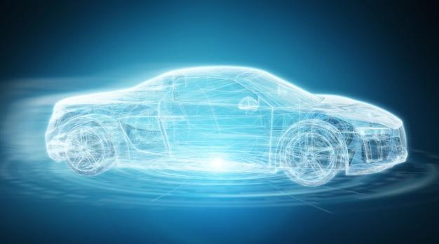 Renderização 3d de interface de carro inteligente digital moderno