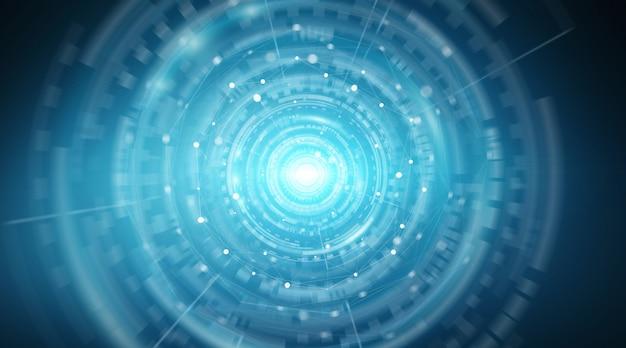 Renderização 3d de interface de conexão de rede digital