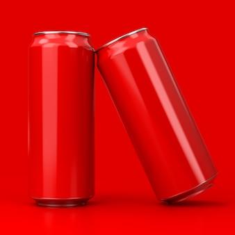 Renderização 3d de lata de refrigerante de alumínio