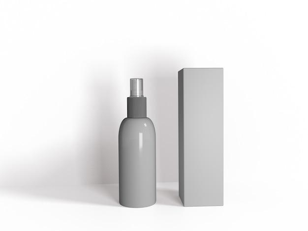 Renderização 3d de limpador de mãos para desinfecção secreta,