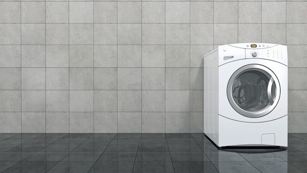 Renderização 3d de máquina de lavar