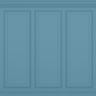 Renderização 3d de parede azul vermelha