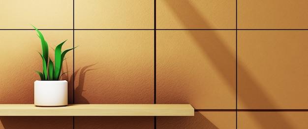 Renderização 3d de plano de fundo para exibir produtos, cremes e cosméticos. para mostrar o produto. maquete de vitrine de fundo em branco.