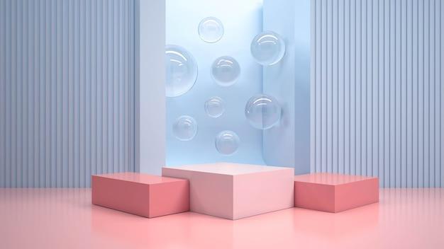 Renderização 3d de pódios geométricos