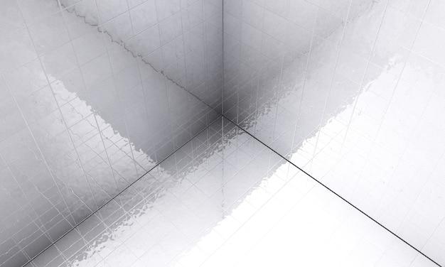 Renderização 3d de sala branca vazia de alta definição
