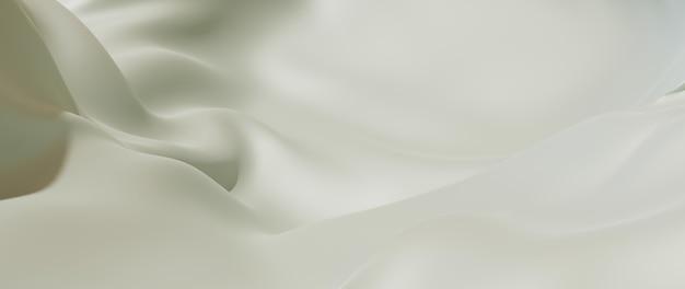 Renderização 3d de seda branca. abstrato arte moda base.