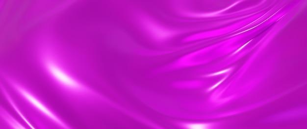 Renderização 3d de seda rosa. abstrato arte moda base.
