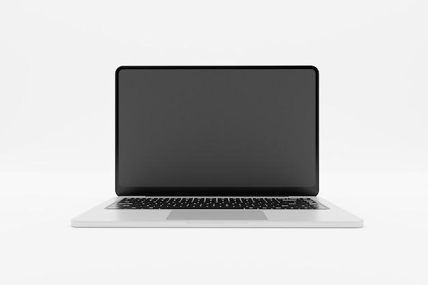 Renderização 3d de simulação de laptop