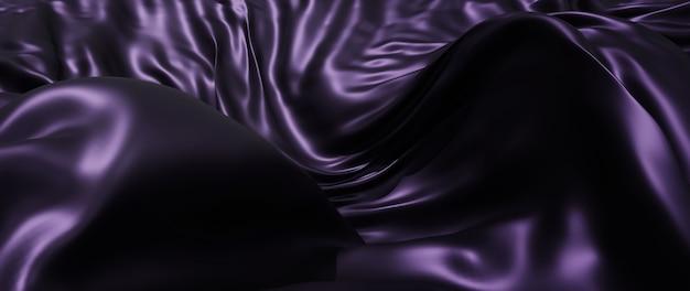 Renderização 3d de tecido escuro e roxo