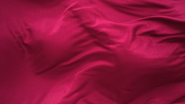 Renderização 3d de tecido revelador de seda vermelha