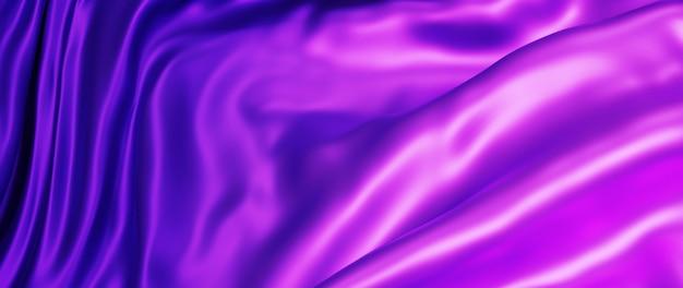 Renderização 3d de tecido roxo e rosa