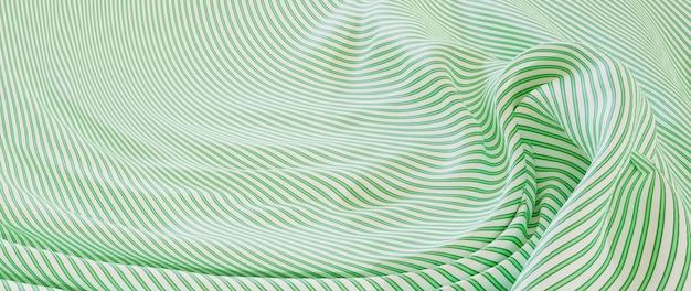 Renderização 3d de tecido verde e branco