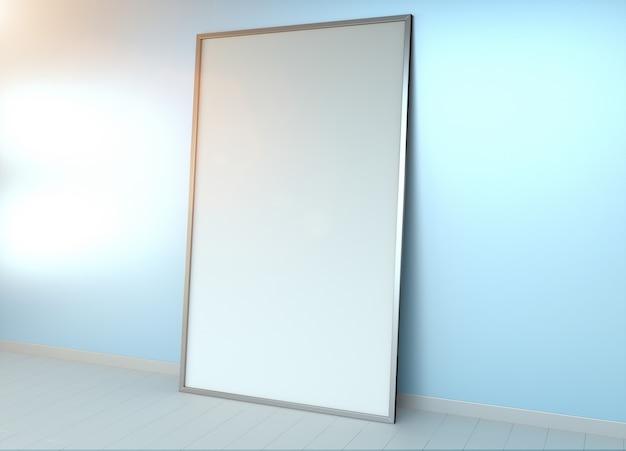 Renderização 3d de tela em branco branco