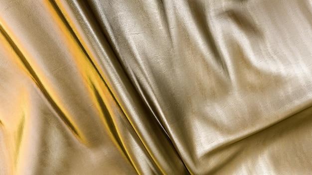 Renderização 3d de textura de tecido dourado