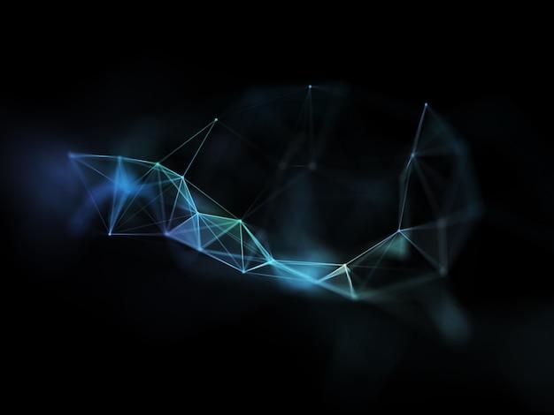 Renderização 3d de um design futurista de comunicações de rede moderna