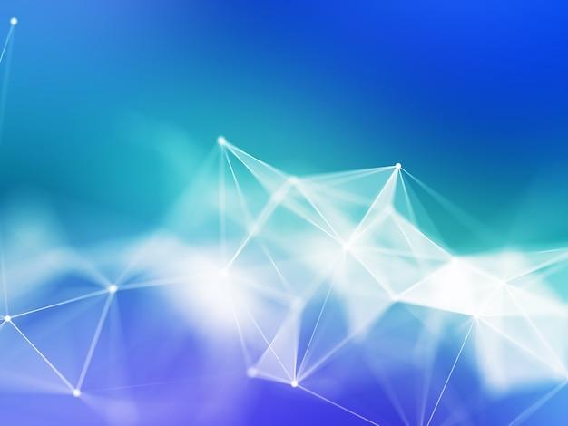 Renderização 3d de um fundo de ciência da rede plexo