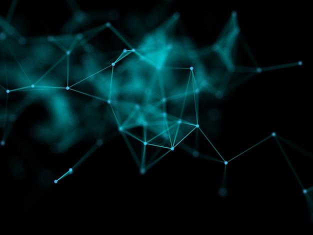 Renderização 3d de um fundo de comunicações de rede