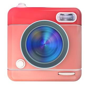 Renderização 3d de um ícone de câmera fotográfica