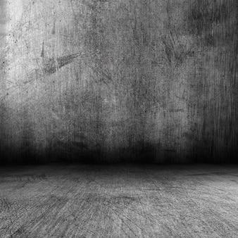 Renderização 3d de um interior escuro de estilo grunge