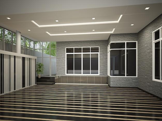 Renderização 3d de um luxuoso design de interiores