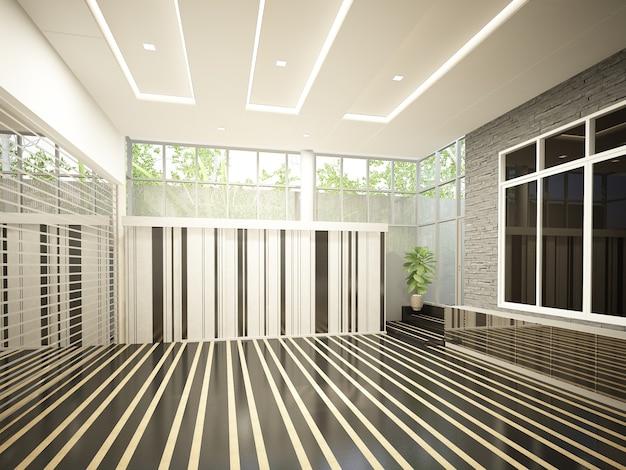 Renderização 3d de um luxuoso design de interiores Foto Premium