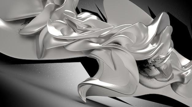 Renderização 3d de um objeto abstrato