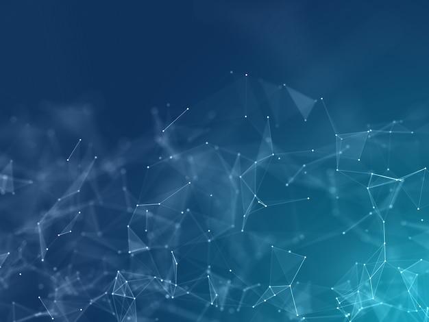 Renderização 3d de um projeto de poliplexo baixo - comunicações de rede