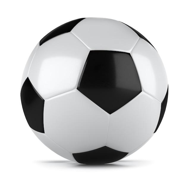 Renderização 3d de uma bola de futebol clássica