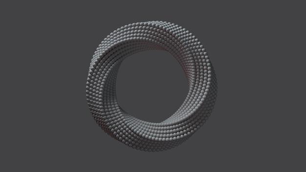 Renderização 3d do anel abstrato.