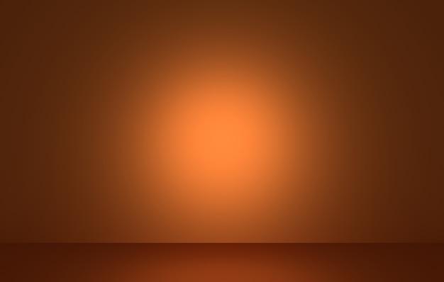 Renderização 3d do conceito abstrato de halloween vazio em laranja escuro