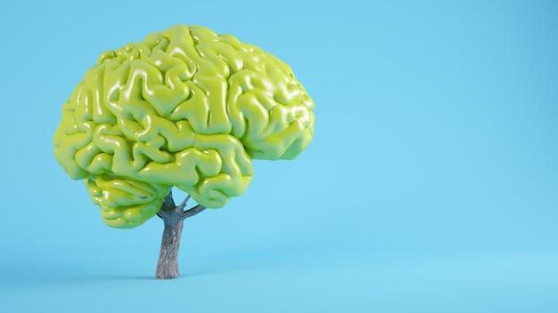 Renderização 3d do conceito de árvore cerebral