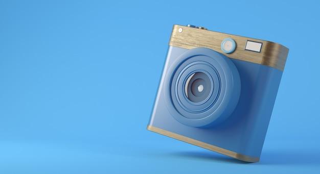 Renderização 3d do conceito de câmera de mídia social