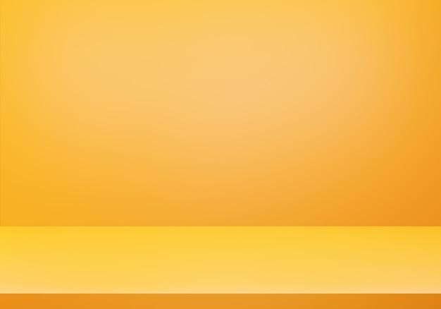 Renderização 3d do conceito mínimo abstrato laranja vazio
