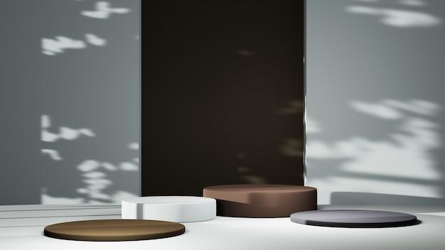 Renderização 3d do fundo de pano de fundo em branco para exibir decorações de moda e cosméticos em creme. fundo moderno do pódio para produtos de luxo.