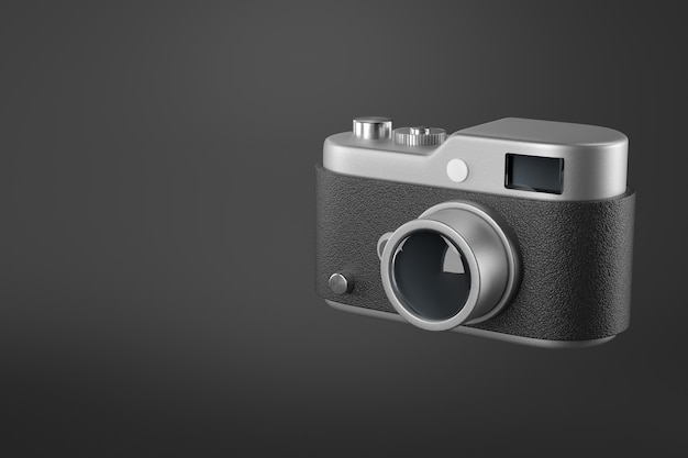 Renderização 3d do ícone da câmera.