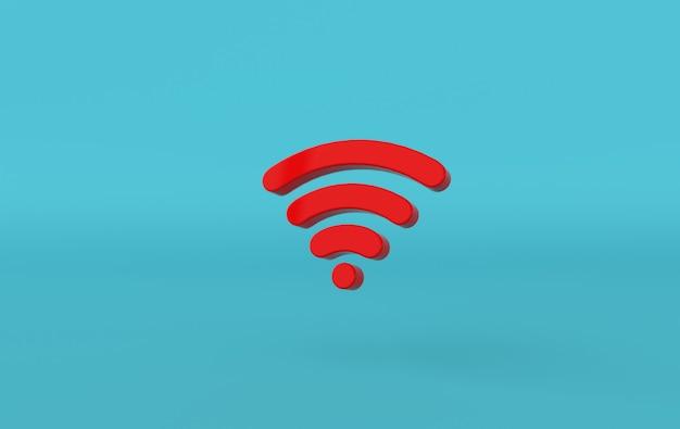 Renderização 3d do ícone de wi-fi