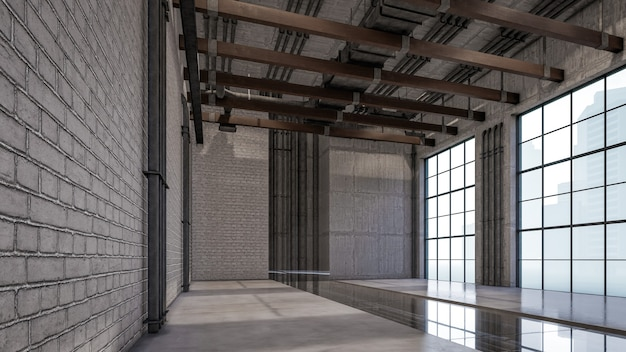 Renderização 3d do interior da visualização da sala de estar