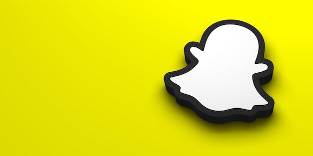 Renderização 3d do logotipo da mídia social