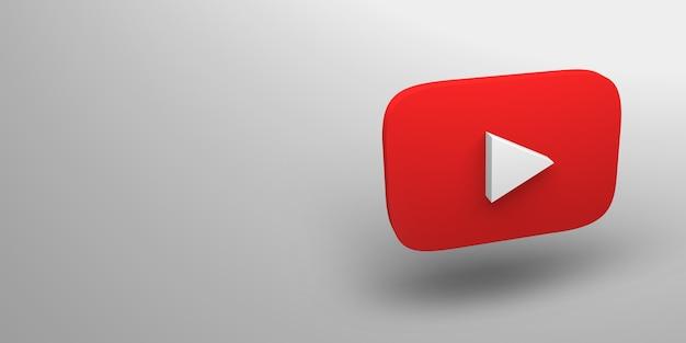 Renderização 3d do logotipo do site de vídeo