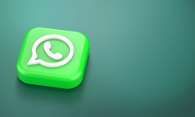 Renderização 3d do logotipo do whatsapp