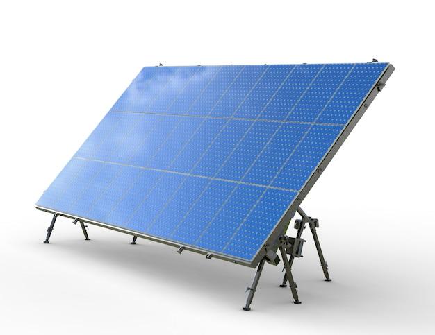 Renderização 3d do painel solar em fundo branco