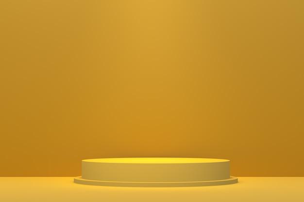 Renderização 3d do pódio amarelo