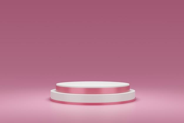 Renderização 3d do pódio rosa