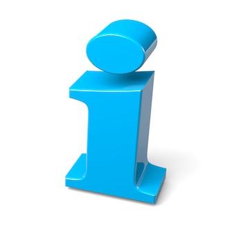 Renderização 3d do símbolo de informação