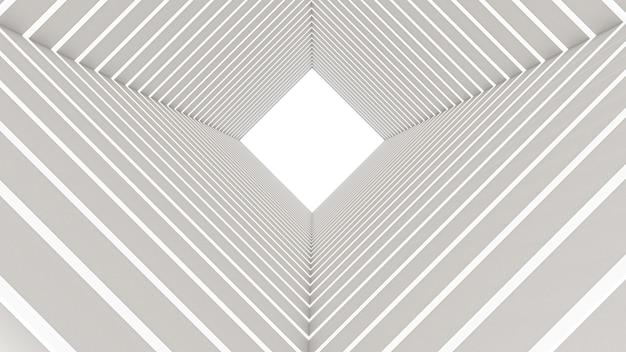 Renderização 3d do túnel retângulo abstrato